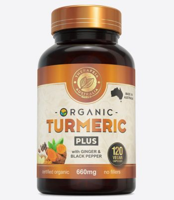 Organic Turmeric PLUS with ginger and black pepper