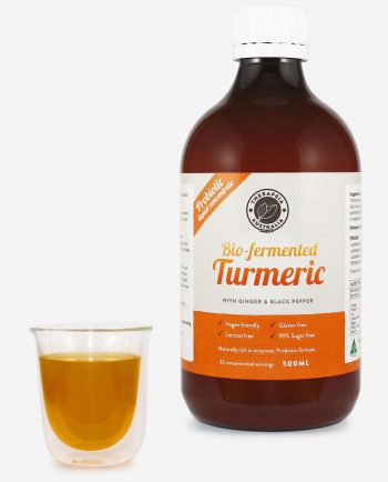 Biofermented Turmeric Probiotic Liquid with Ginger and Black Pepper 500ml