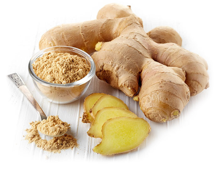 ginger, digestive stimulant and warming herb
