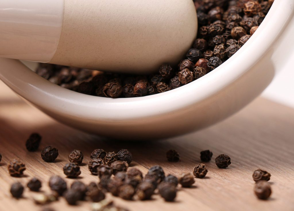 Black pepper with turmeric