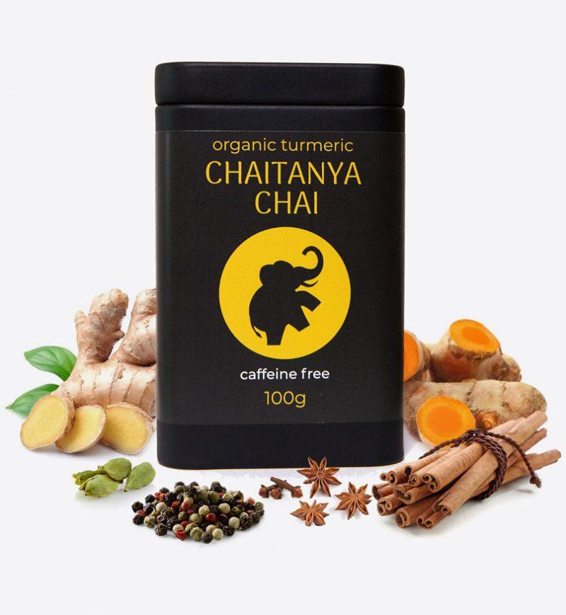 Organic Turmeric Caffine Free Chaitanya Chai