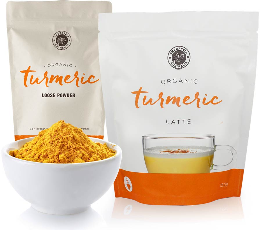 Organic Turmeric Latte and Loose Powder
