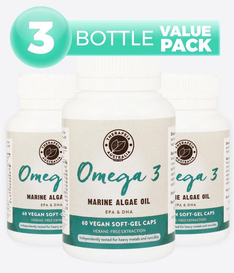 Omega 3 Marine Algae Oil - 3 Bottle Value Pack