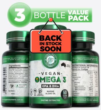 Omega3 Marine Algae value pack back soon